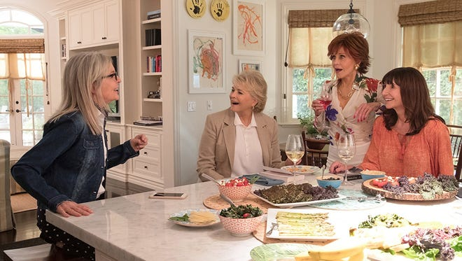 "Diane Keaton, Candice Bergen, Jane Fonda and Mary Steenburgen star in ""Book Club."""