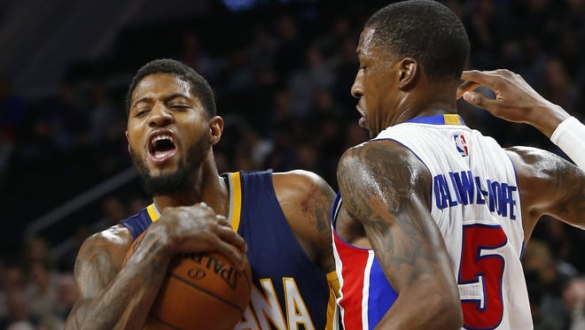 Pacers F Paul George. Age: 27. 2016-17 stats:  23.7 points, 6.6 rebounds in 35.9 mins. over 75 games. Shooting splits: 46.1/39.3/89.8, 53.3 eFG. Contract: 2 years, $40.2 M with a player option for 2018-19. Barring a significant injury, George will hit the market next summer. The Free Press reported the Pistons were interested in George at the deadline. George recently told the Pacers he will be going to his hometown Lakers in 2018.