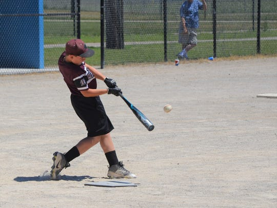 Hayden DeMaso of HBF Maroons out of Kalamazoo competes