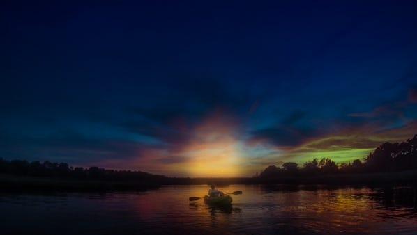 Kayaking in Toms River.