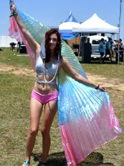 Abby (no last name given ) wears a fairy oufit at the