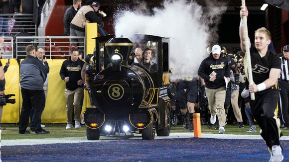 The Purdue Boilermakers Special mascot brings the team