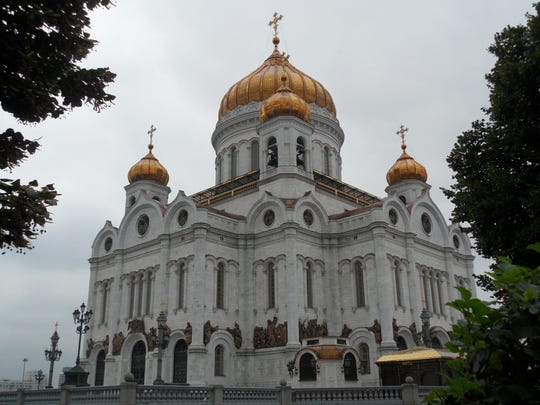 Christ the Savior Cathedral re-built in 1998