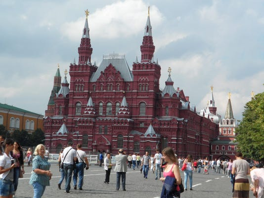 The State History Museum presides over Moscow's bustling Red Square
