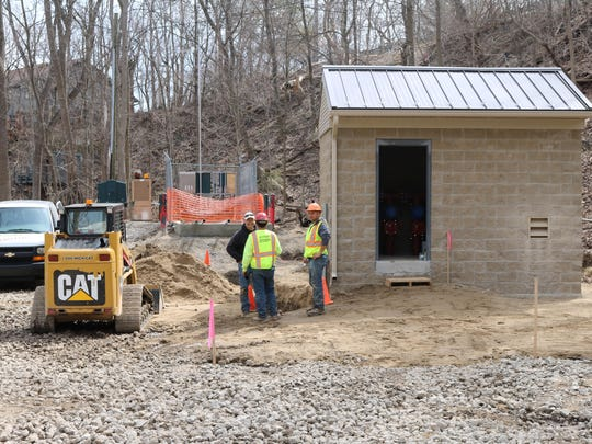 A new control center, housed in this 150-square foot building, will allow for off-site monitoring.
