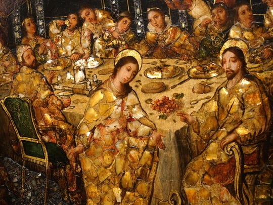 """Miracle of the Cana painting from Mexico in Winterthur Museums """"Made in the Americas: The New World discovers Asia."""""""