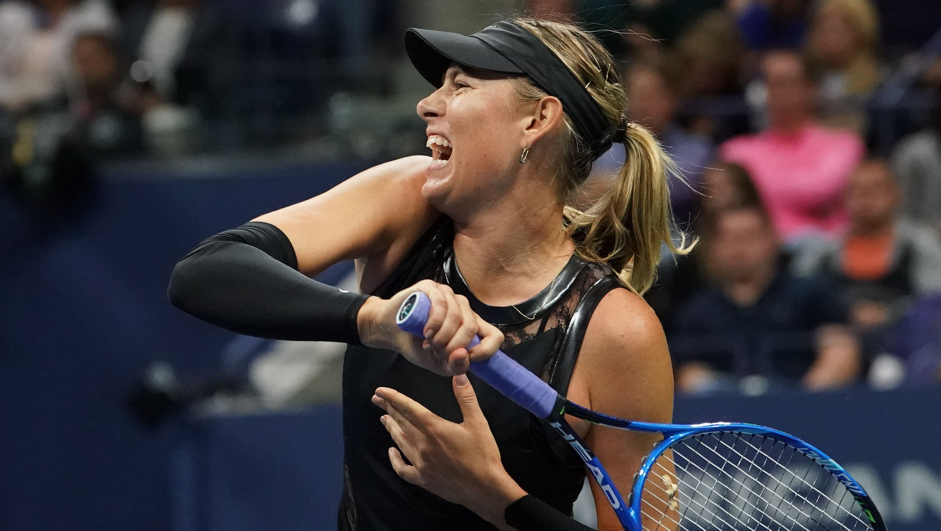 U S Open Maria Sharapova Tops Sofia Kenin In Wild Card Battle