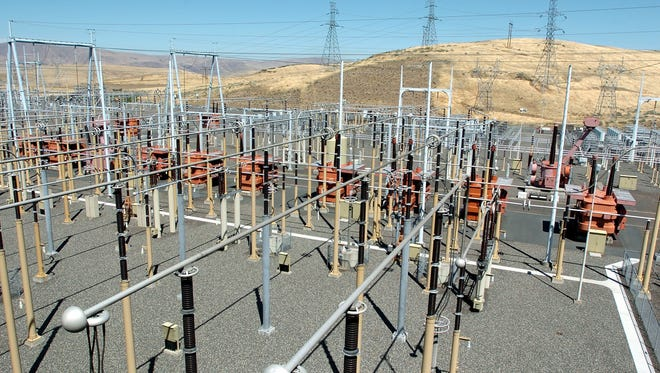 An overview of a section of the Converter switch yard at Bonneville Power Administrations' Celilo Converter Station July 25, 2006 in The Dalles.