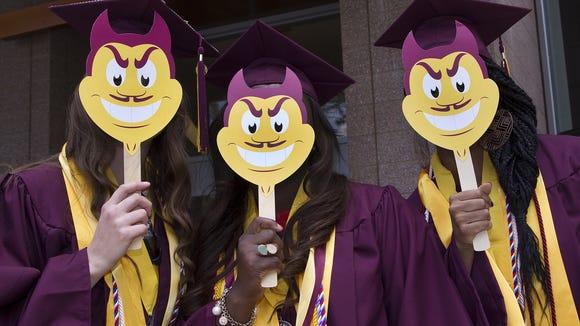 Arizona State University nursing students pose for