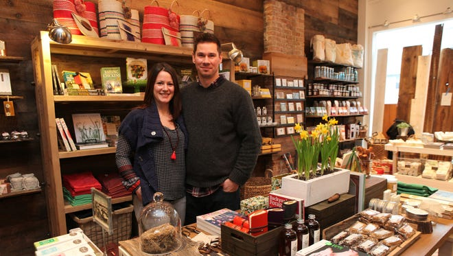 Cold Spring General Store owners Craig and Deanna Muraszewski pose at their new store which stocks artisan and local products.
