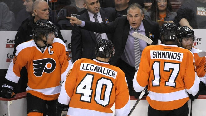 Coach Craig Berube said he's contemplating whether to put Vinny Lecavalier back in the lineup after seven games as a healthy scratch.