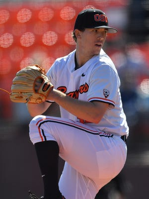 Travis Eckert leads the Beavers with 61 strikeouts this season.