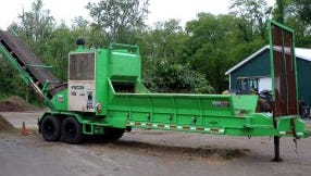 Greene Township superviors plan to replace this 15-year-old machine that grinds yard waste at the municipal composting facility.