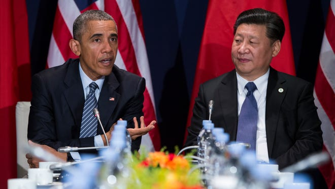 President Obama and Chinese President Xi Jinping in France in November 2015.