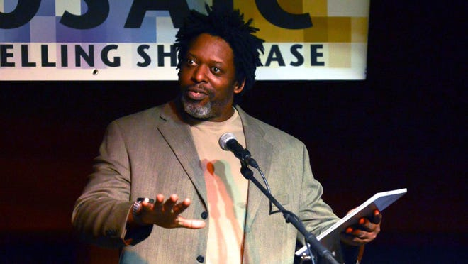 Sean Washington was master of ceremonies for the Mosaic Storytelling Showcase at the Warehouse.