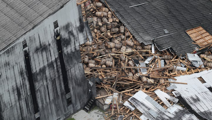 Hundreds of fish killed in leak from bourbon warehouse collapse