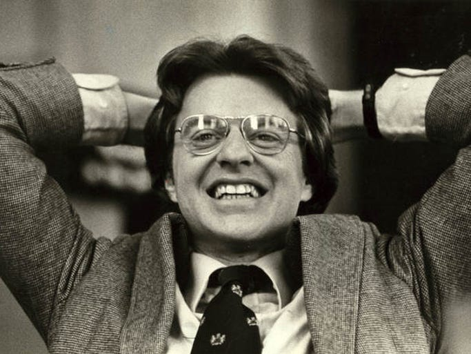 Take a look back at some of the familiar faces who have served as grand marshal of the Opening Day Parade.  1993: Jerry Springer, TV personality, former mayor of Cincinnati