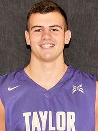 Taylor University's Evan Crowe.
