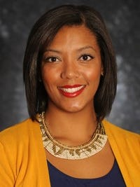 New Mexico State assistant women's basketball coach Aarika Hughes.