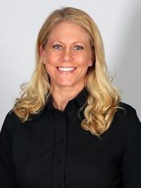 ACU volleyball coach Angela Mooney