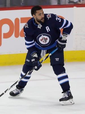 Winnipeg Jets defenseman Dustin Byfuglien is like a linebacker on skates.