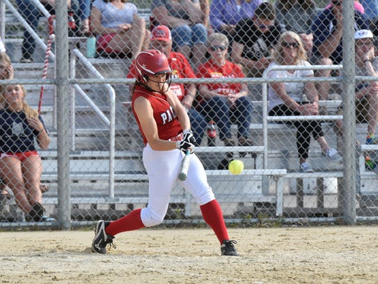 A Pacelli batter looks to make contact during the Division