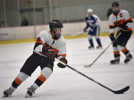 The Northville Mustangs, led by senior defenseman Jack Sargent, are on the schedule for the Dec. 16 Showcase at Eddie Edgar.