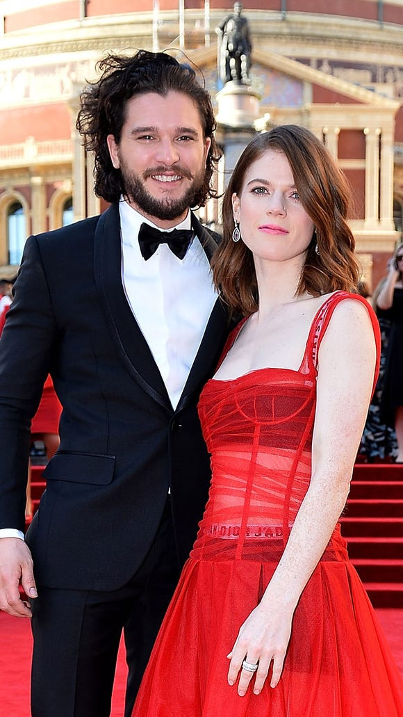A year later, Leslie and Harington return to where