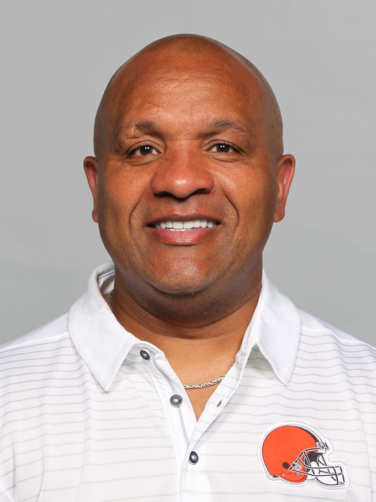This is a 2017 photo of Hue Jackson head coach of the Cleveland Browns.  His team already sunk, Jackson is taking the plunge. Jackson said Wednesday, Dec. 27, 2017, that he'll make good on his promise to jump in Lake Erie because of his team's horrible record. After the Browns went 1-15 last year, Jackson vowed that if Cleveland was ever that bad again he would swim in the lake. Well, the Browns are 0-15 heading into Sunday's finale at Pittsburgh. A loss would make the Browns just the second team to lose all 16 games.(AP Photo)
