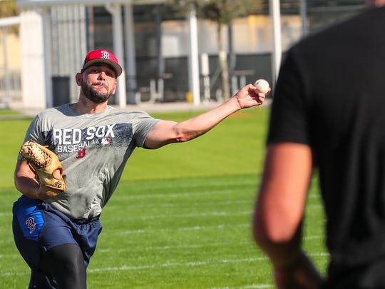 The truck has arrived and so has spring training in Fort Myers. Jet Blue stadium was hopping Thursday morning as some of the Red Sox players began practicing and their belonging arrived from Boston.