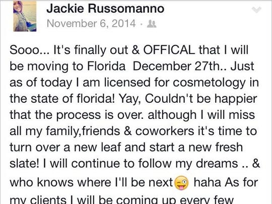 Jackie Russomanno is currently under fire for the state