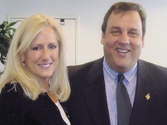 Susan Enderly and Chris Christie pictured in August