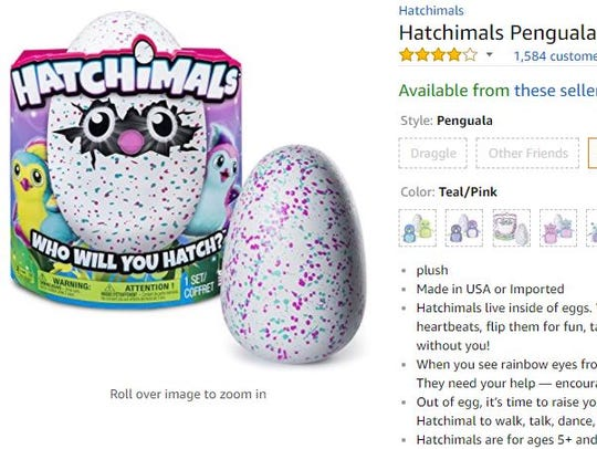 A Hatchimal on Amazon.