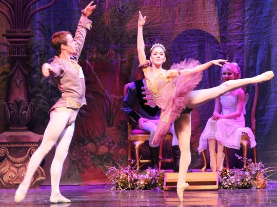 """Claudia Lezcano, left, and Reinhard von Rabenau as Sugarplum Fairy and her Cavalier  in this year's presentation of """"The Nutcracker"""" by the Treasure Coast Youth Ballet."""