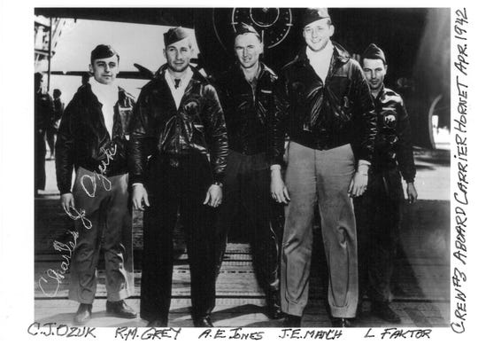 Iowan Leland Faktor, far right, was the first casualty