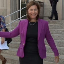 Major Brands CEO Sue McCollum left the courthouse Tuesday morning with an ear-to-ear smile following the settlement.