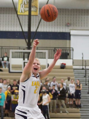 Senior Ryann Laier had a team-high 12 points for Hartland in her first game in over a year because of a knee injury.