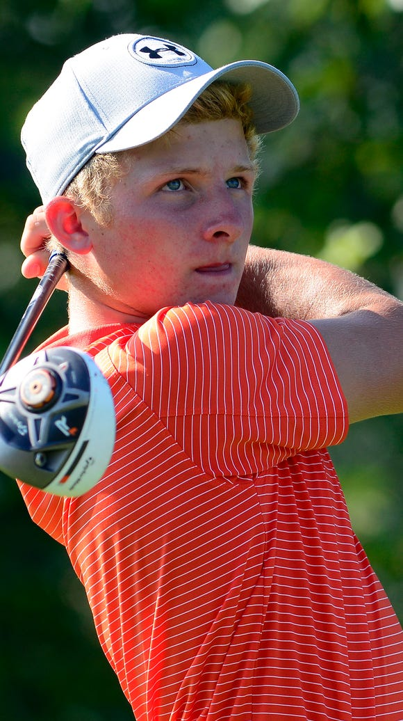 Central York's Carson Bacha fired a 63 on Wednesday