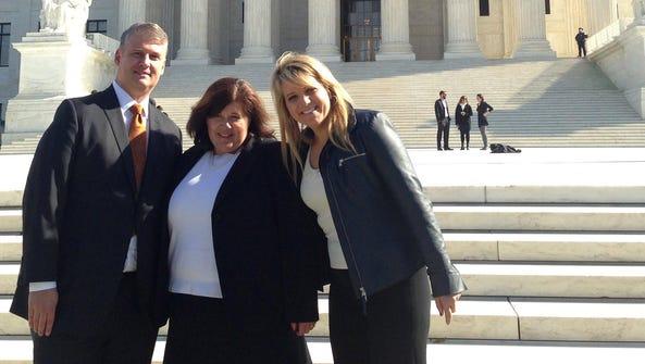 Dykema attorneys James Hermon, from left, Jill Wheaton