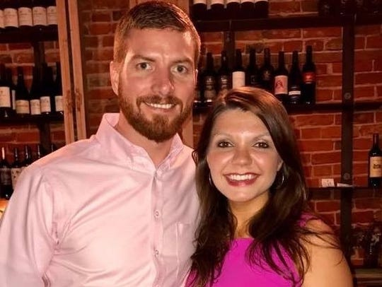 Ian Blaylock and his bride Brittany Reeves