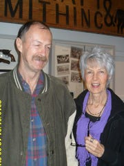 Joe Vlach and Diane Twitchell, both of Redding, attend the Behrens-Eaton House Museum's Chautauqua at the Old Shasta Museum on Jan. 15.
