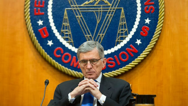 Federal Communication Commission Chairman Tom Wheeler during an open hearing and vote on net neutrality.