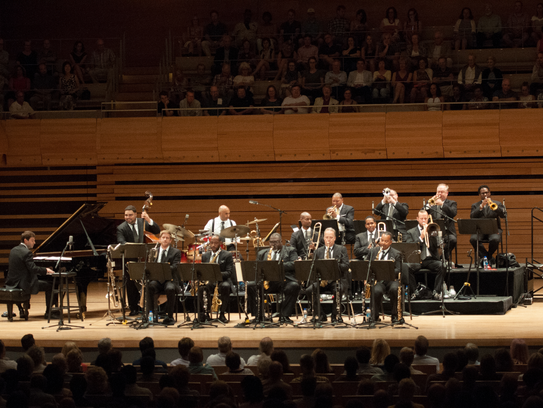 The Jazz at Lincoln Center Orchestra performed last