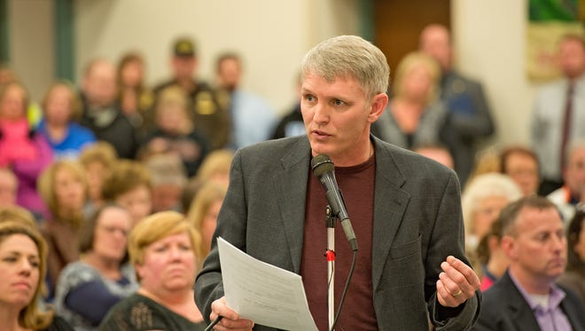 Boone County Constable Joe Kalil spoke Thursday in favor of the plan to arm some teachers in Boone County schools.