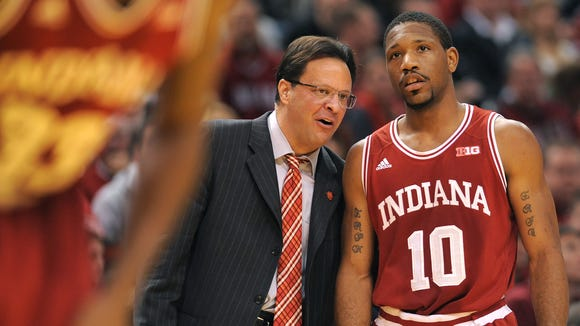 Tom Crean (left) said the best thing for his team was to get right back on the practice floor after Saturday's loss.