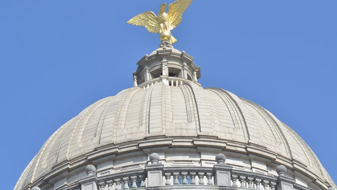 State Capitol dome in Jackson.
