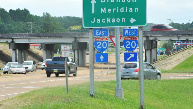 This Brandon interchange will receive a $9 million upgrade at U. S. 80 and I-20 in Rankin County.
