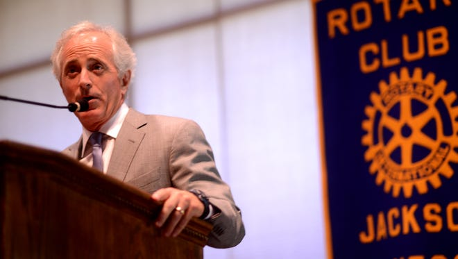 U.S. Sen. Bob Corker spoke at the Jackson Rotary Club and Jackson Young Professionals meeting Wednesday at the Jackson Country Club.