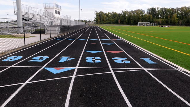 A local track is shown. At 6 p.m. Friday, Aug. 1, the All-Comers Track Meet will be held at Wicomico County Stadium in Salisbury. Entry is free.