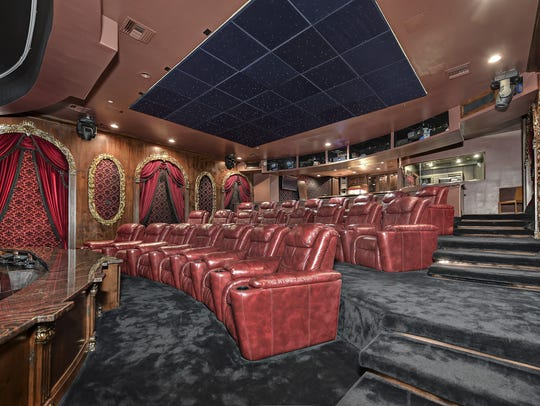 The estate's 40-seat theater.